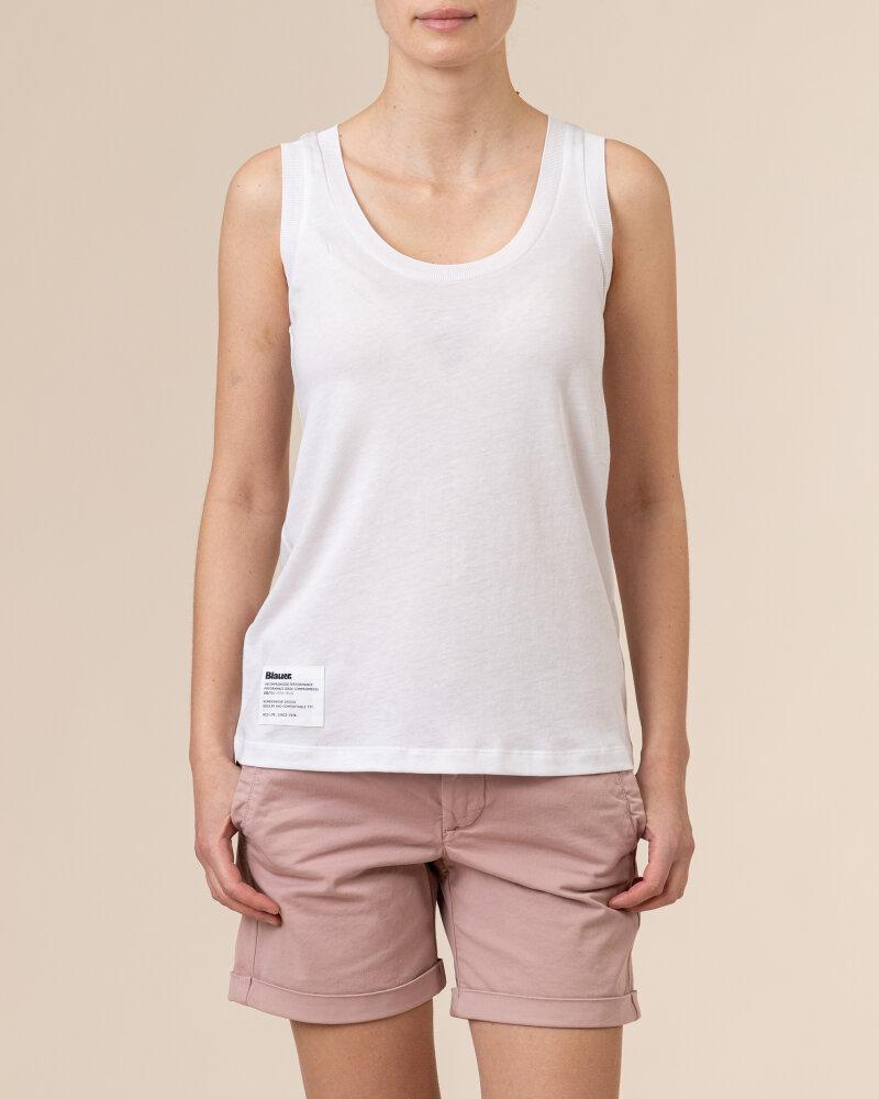 Bluzka Blauer BLDH03320_5984_100 biały - fot:2
