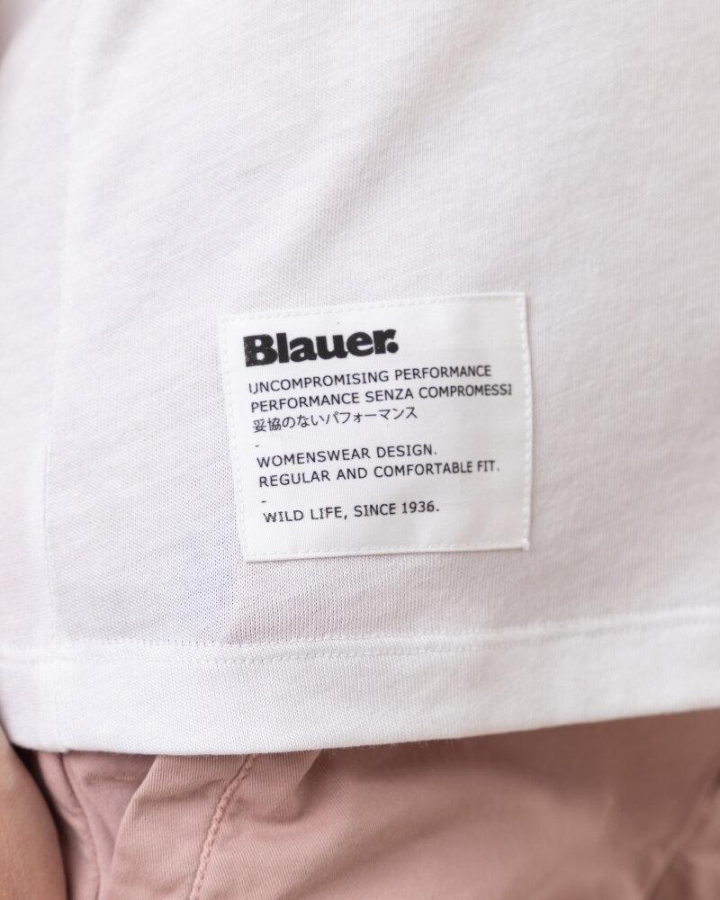Bluzka Blauer BLDH03320_5984_100 biały - fot:3