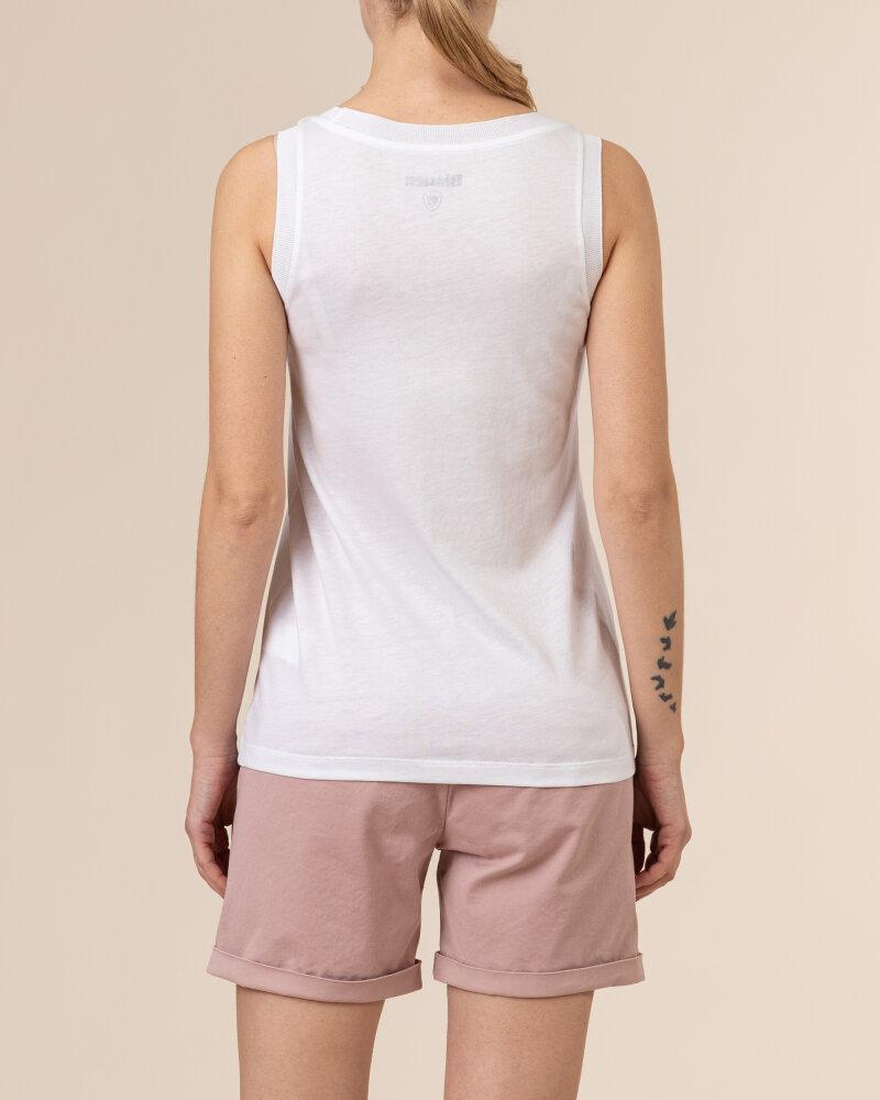 Bluzka Blauer BLDH03320_5984_100 biały - fot:4