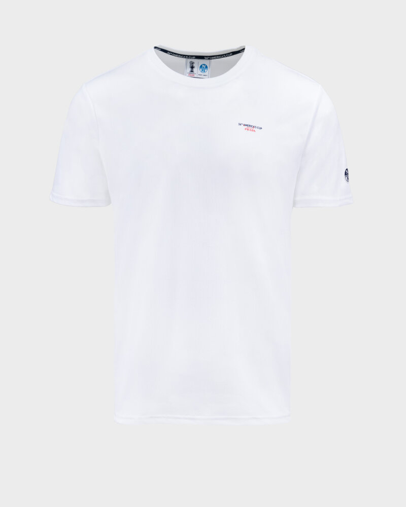 T-Shirt North Sails | Prada 452307_WHITE biały - fot:1