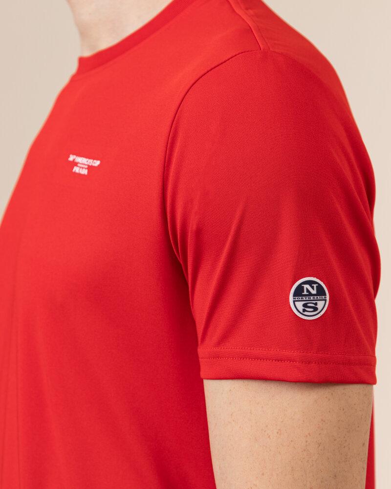 T-Shirt North Sails | Prada 452307_RED czerwony - fot:3