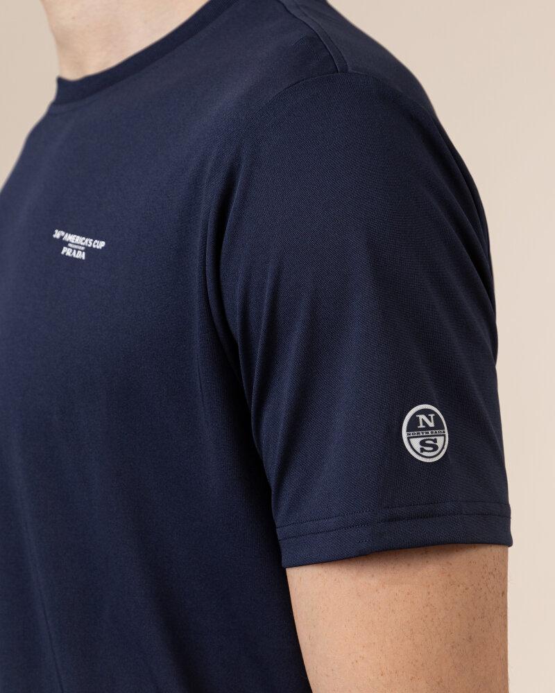 T-Shirt North Sails   Prada 452307_NAVY BLUE granatowy - fot:3
