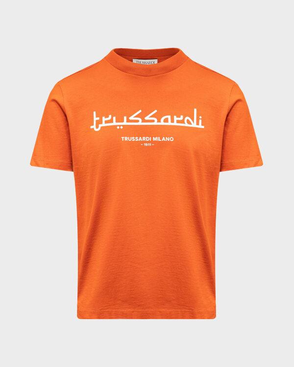 T-Shirt Trussardi  52T00484_1T005172_O192 pomarańczowy