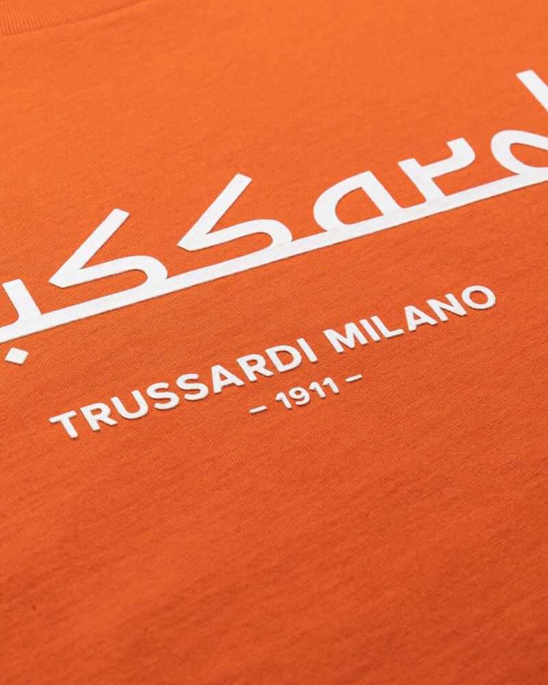 T-Shirt Trussardi  52T00484_1T005172_O192 pomarańczowy - fot:3