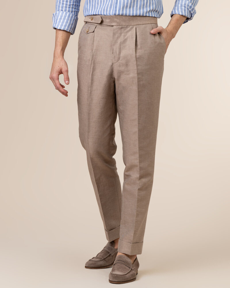 Spodnie Cavaliere 20SS21515_JERRY COMO_50 brązowy - fot:2
