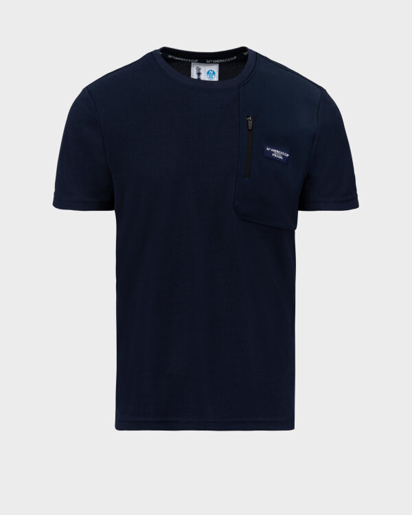 T-Shirt North Sails | Prada 452309_NAVY BLUE granatowy