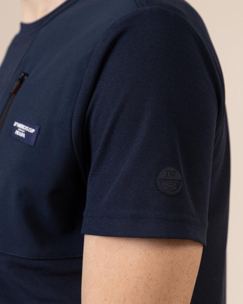 T-Shirt North Sails | Prada 452309_NAVY BLUE granatowy - fot:4