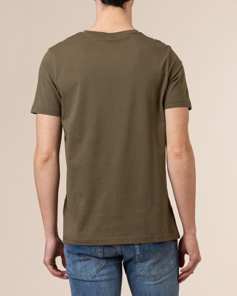 T-Shirt Save The Duck DT0151M_20143 khaki - fot:4