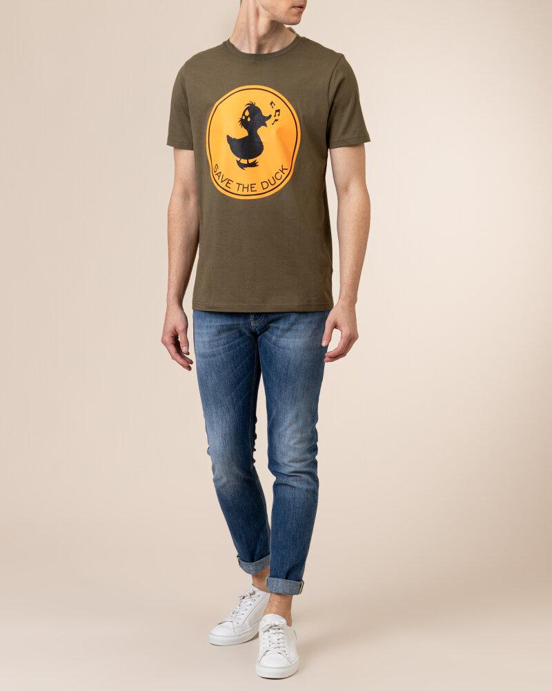 T-Shirt Save The Duck DT0151M_20143 khaki - fot:5