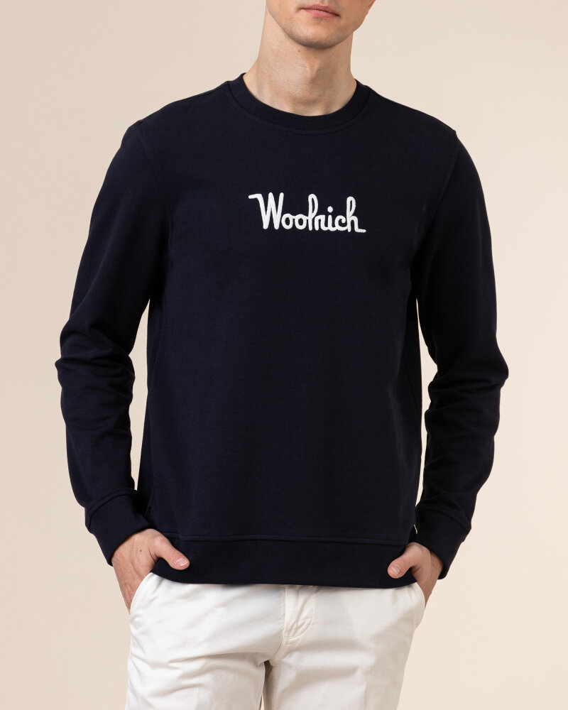 Bluza Woolrich CFWOSW0090MRUT2544_3989 granatowy - fot:2