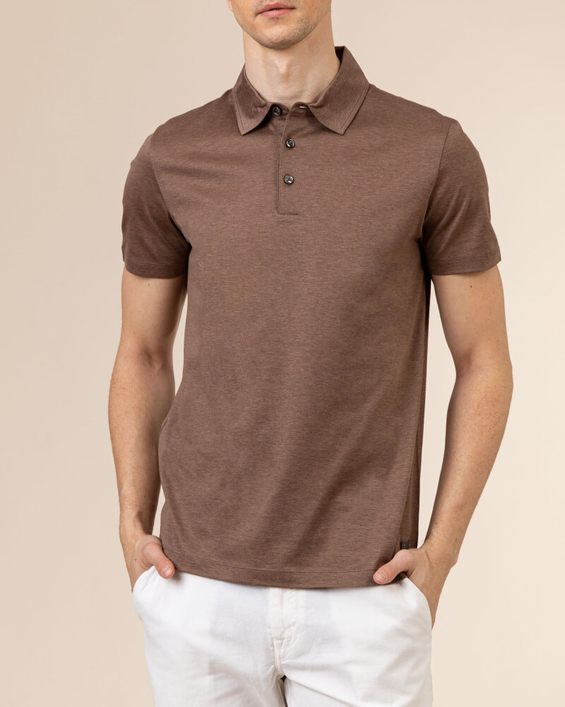 T-Shirt Baldessarini 5047_10009_8105 brązowy - fot:2
