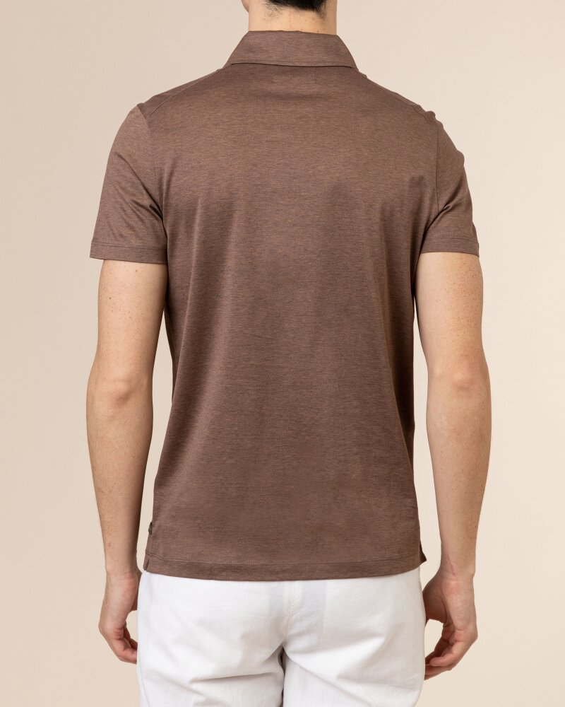 T-Shirt Baldessarini 5047_10009_8105 brązowy - fot:4