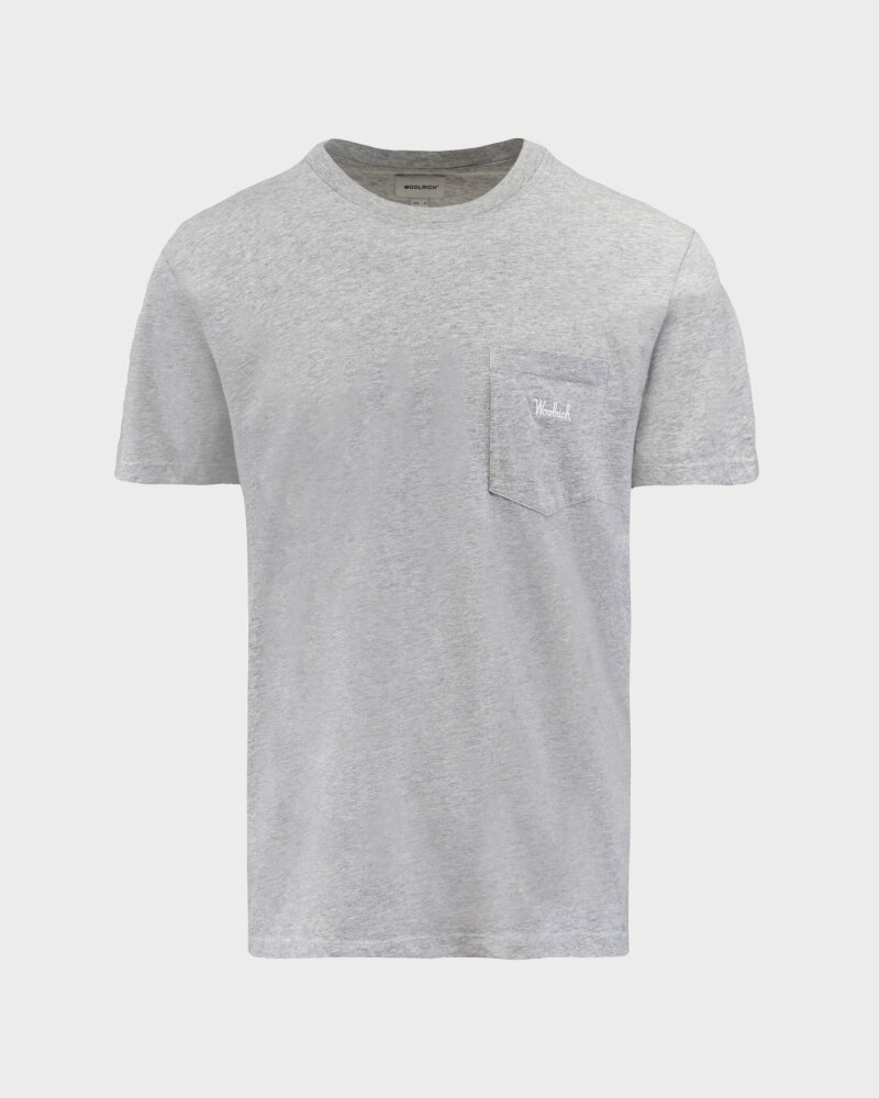 T-Shirt Woolrich CFWOTE0047MRUT1486_103 szary - fot:1