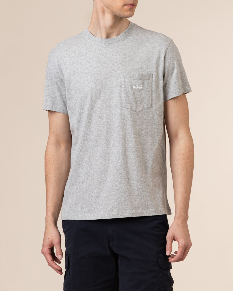 T-Shirt Woolrich CFWOTE0047MRUT1486_103 szary - fot:2