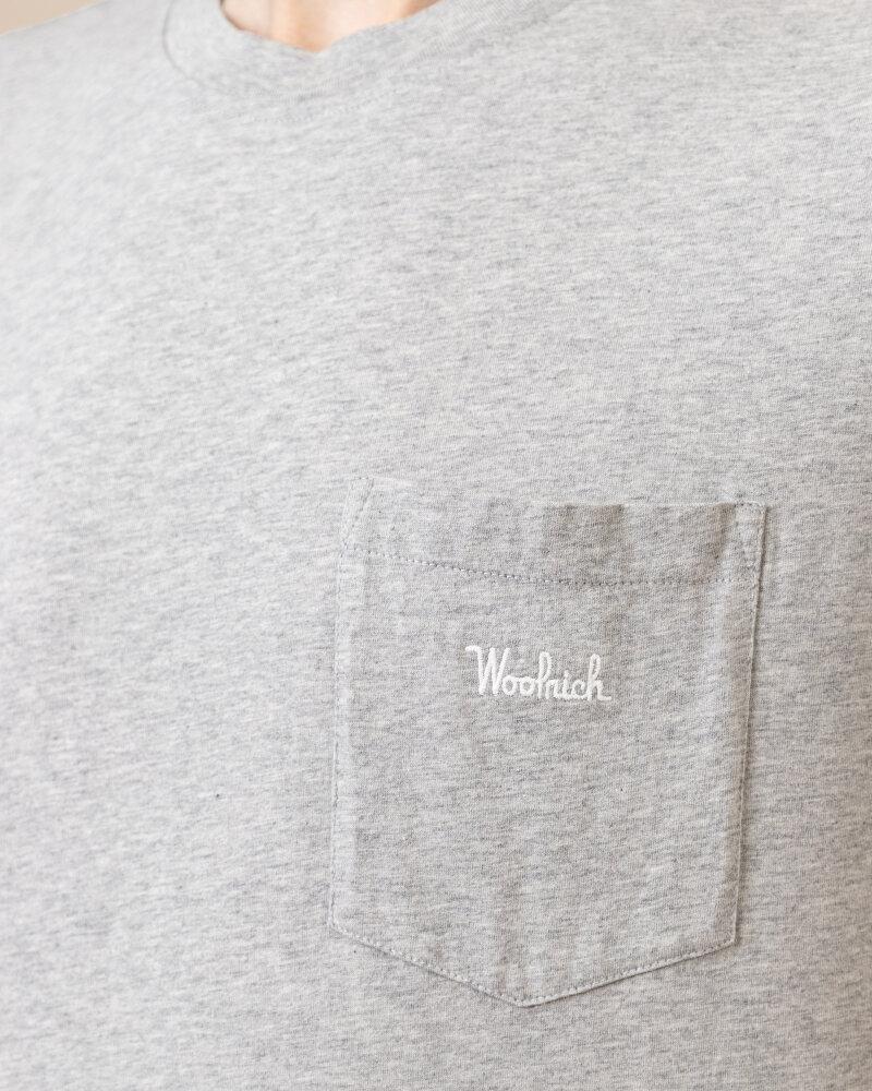 T-Shirt Woolrich CFWOTE0047MRUT1486_103 szary - fot:3