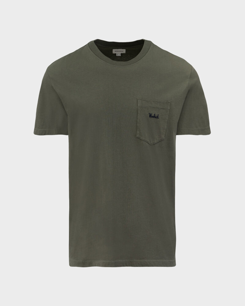 T-Shirt Woolrich CFWOTE0047MRUT1486_6024 khaki - fot:1
