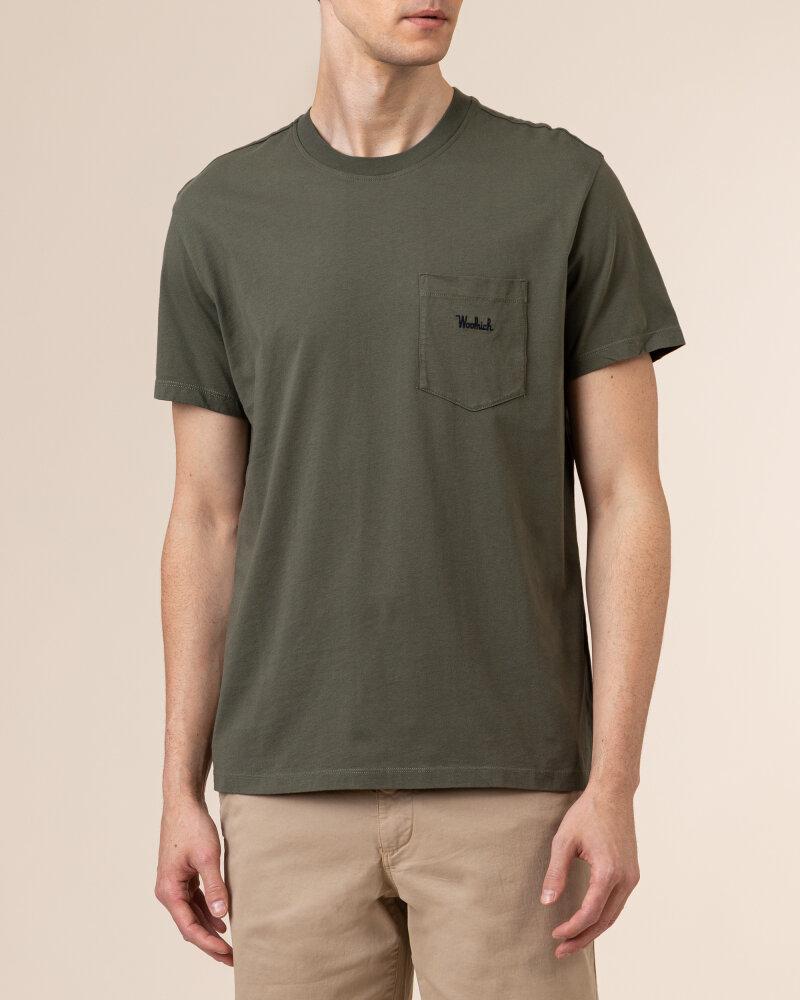 T-Shirt Woolrich CFWOTE0047MRUT1486_6024 khaki - fot:2