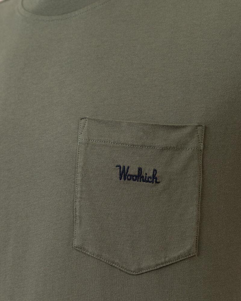 T-Shirt Woolrich CFWOTE0047MRUT1486_6024 khaki - fot:3