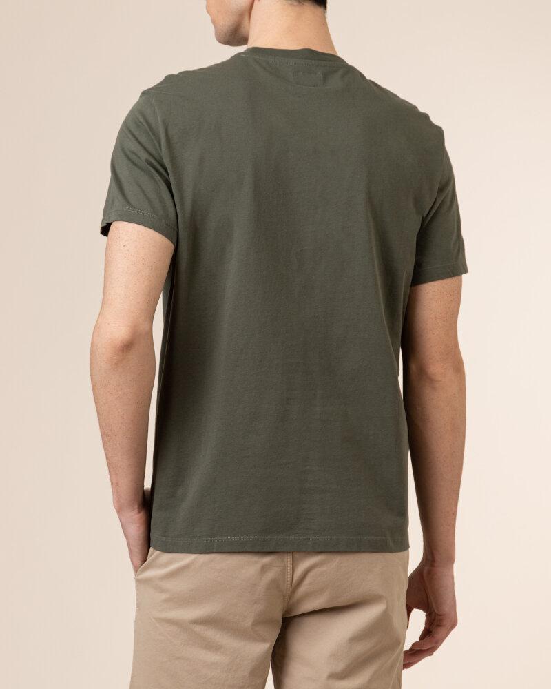 T-Shirt Woolrich CFWOTE0047MRUT1486_6024 khaki - fot:4