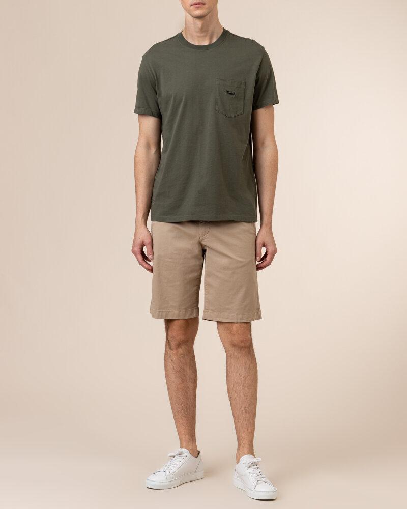 T-Shirt Woolrich CFWOTE0047MRUT1486_6024 khaki - fot:5