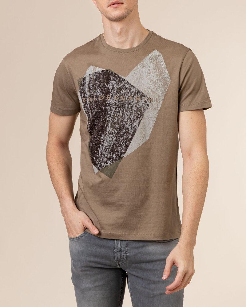T-Shirt Baldessarini 5015_20013_8013 brązowy - fot:2