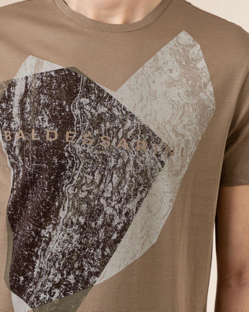 T-Shirt Baldessarini 5015_20013_8013 brązowy - fot:3