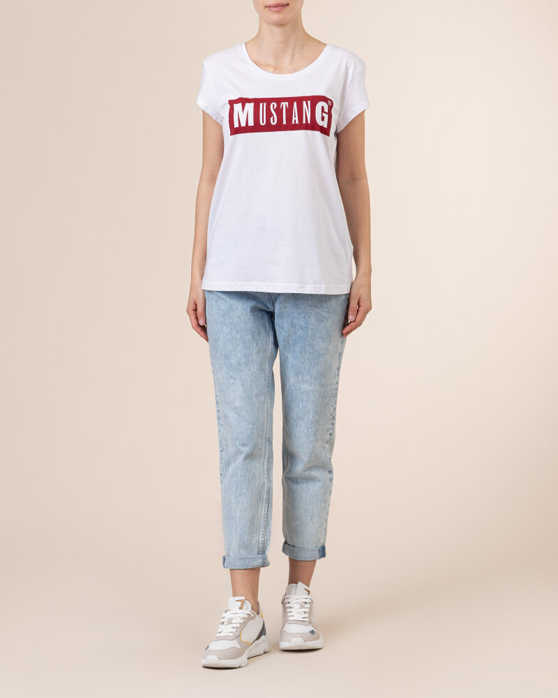 T-Shirt Mustang 1010370_2045 biały - fot:5