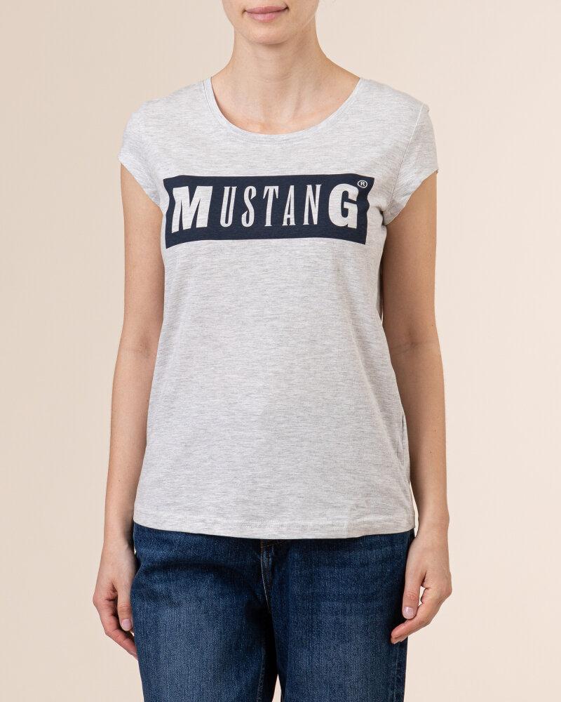 T-Shirt Mustang 1010370_4141 jasnoszary - fot:2