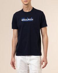 T-Shirt Woolrich CFWOTE0048MRUT1486_3989 granatowy- fot-1