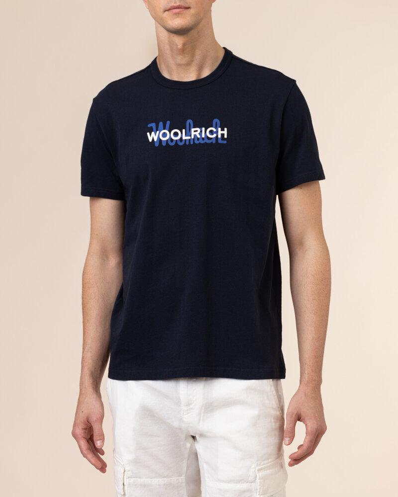 T-Shirt Woolrich Cfwote0048Mrut1486_3989 Granatowy Woolrich CFWOTE0048MRUT1486_3989 granatowy - fot:2