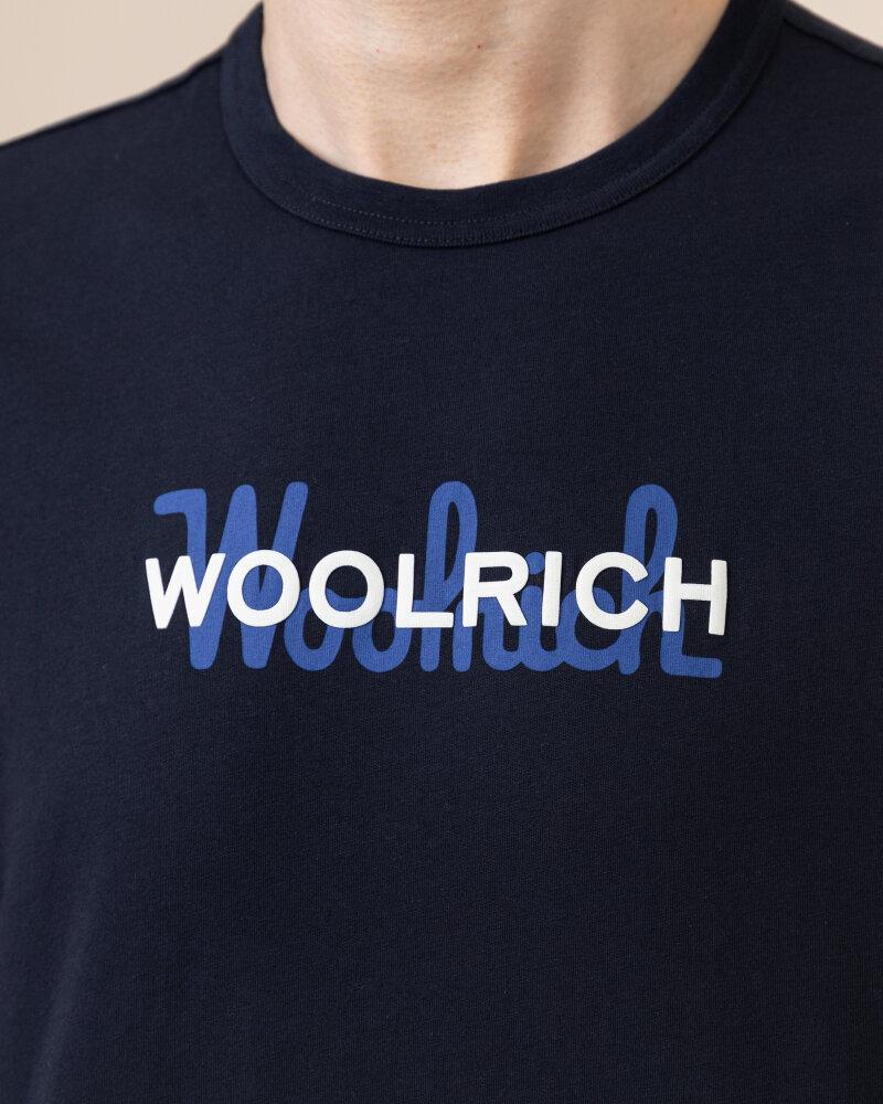 T-Shirt Woolrich Cfwote0048Mrut1486_3989 Granatowy Woolrich CFWOTE0048MRUT1486_3989 granatowy - fot:3