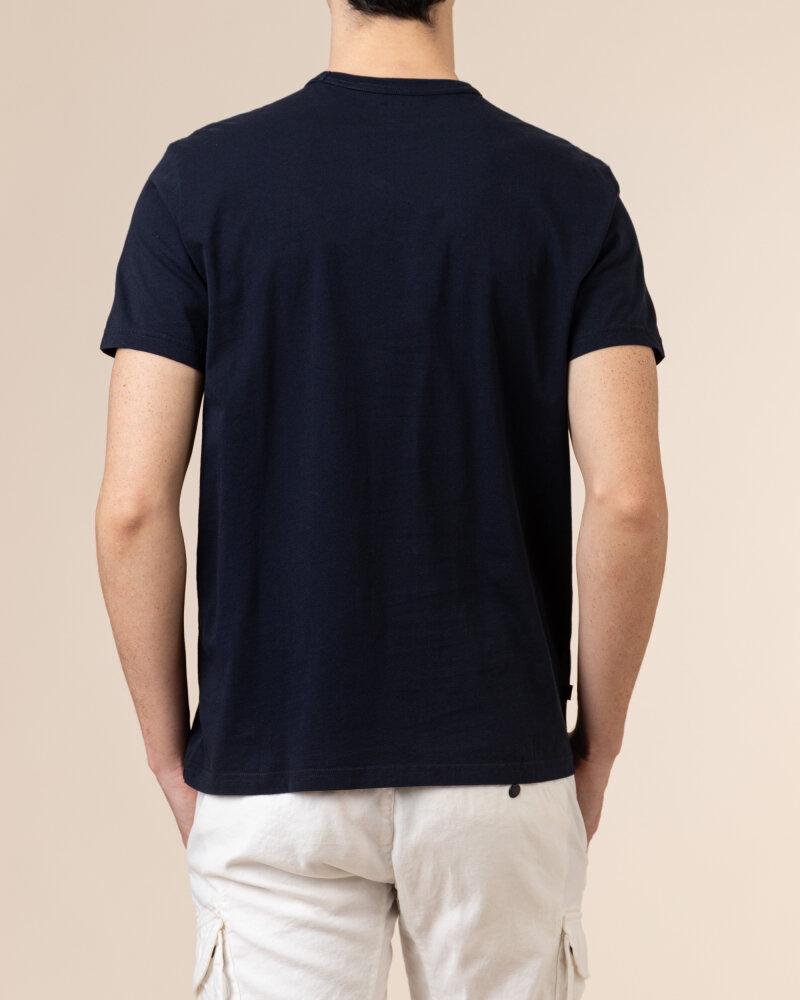 T-Shirt Woolrich Cfwote0048Mrut1486_3989 Granatowy Woolrich CFWOTE0048MRUT1486_3989 granatowy - fot:4