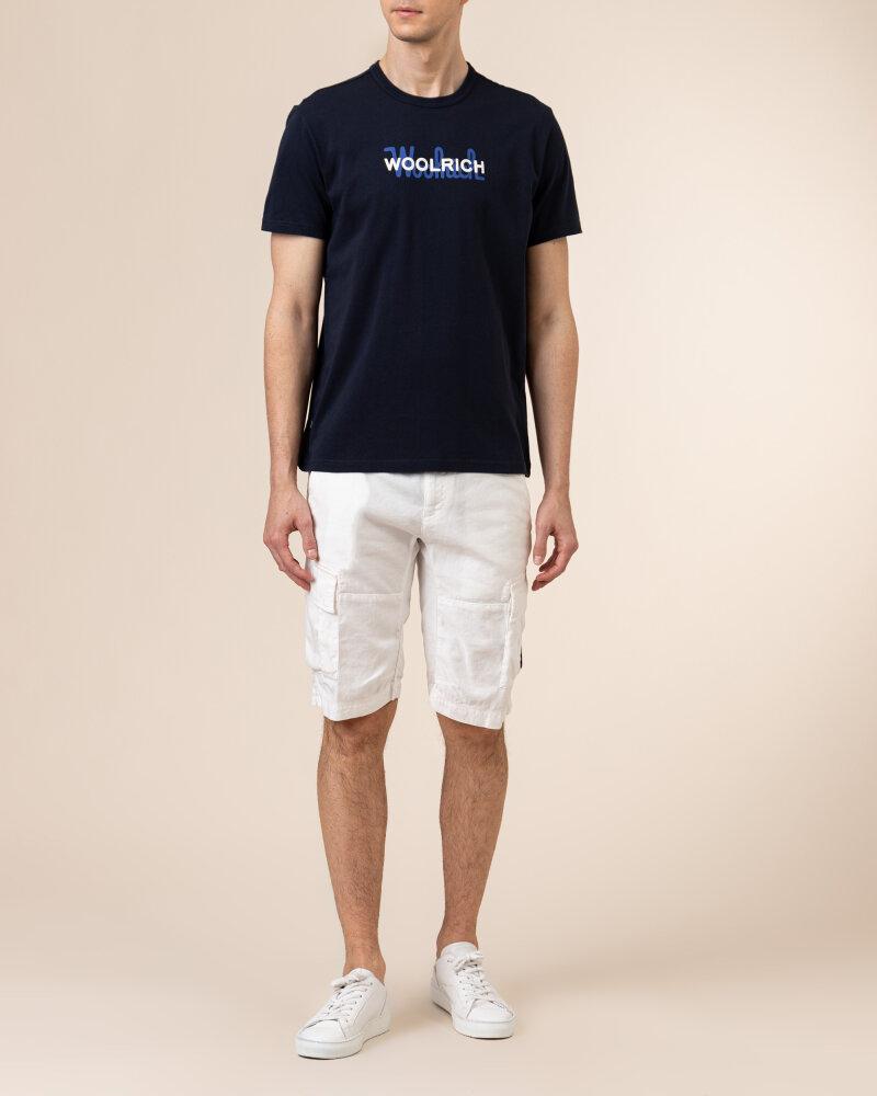 T-Shirt Woolrich Cfwote0048Mrut1486_3989 Granatowy Woolrich CFWOTE0048MRUT1486_3989 granatowy - fot:5