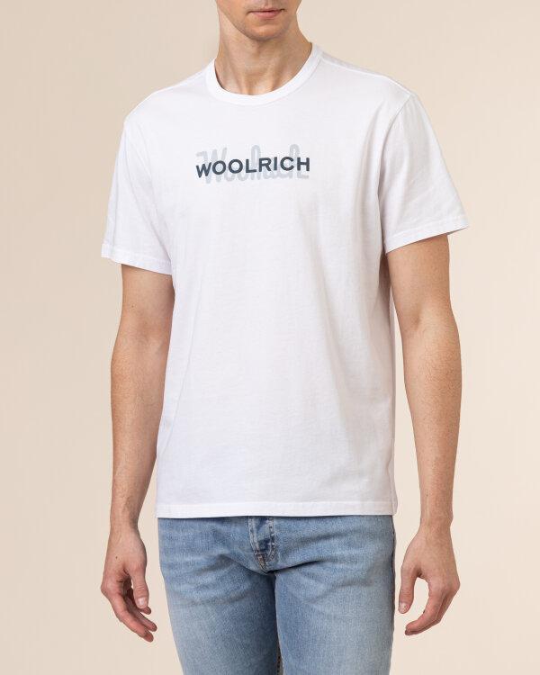 T-Shirt Woolrich CFWOTE0048MRUT1486_8041 biały