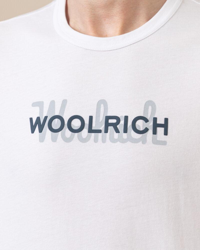 T-Shirt Woolrich CFWOTE0048MRUT1486_8041 biały - fot:3
