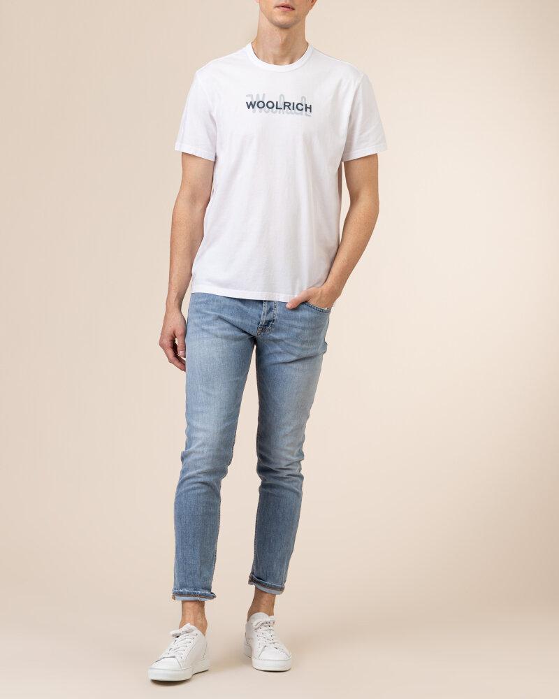 T-Shirt Woolrich CFWOTE0048MRUT1486_8041 biały - fot:5