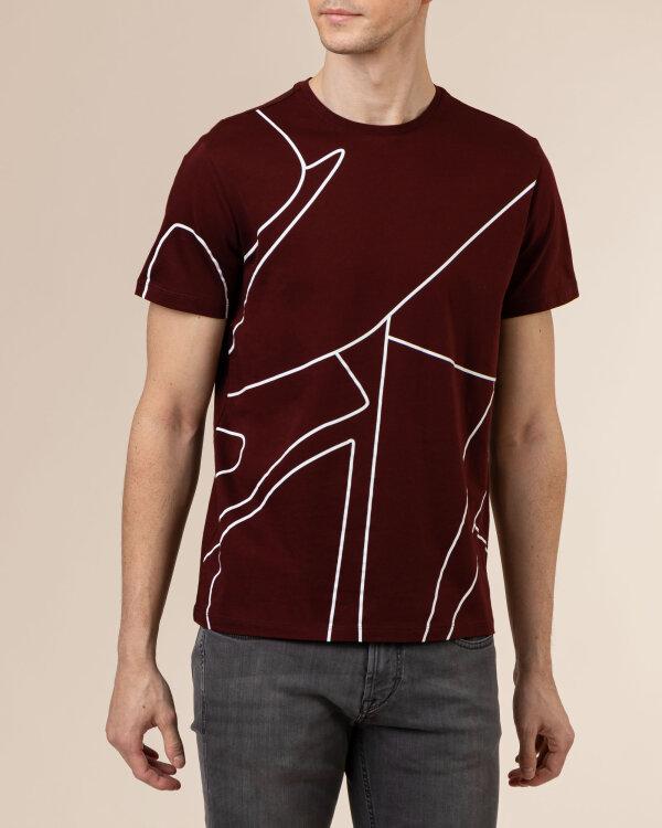 T-Shirt Baldessarini 5015_20012_4309 bordowy