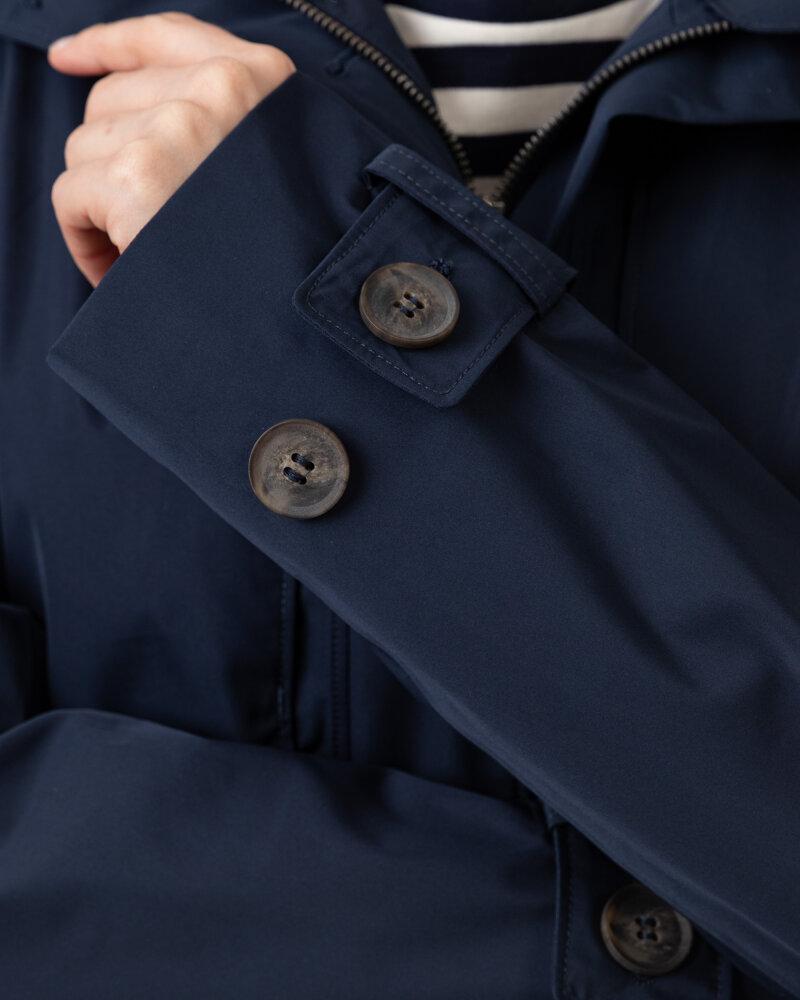 Płaszcz Didriksons 503613_Lova Women's Coat 3_999 granatowy - fot:4