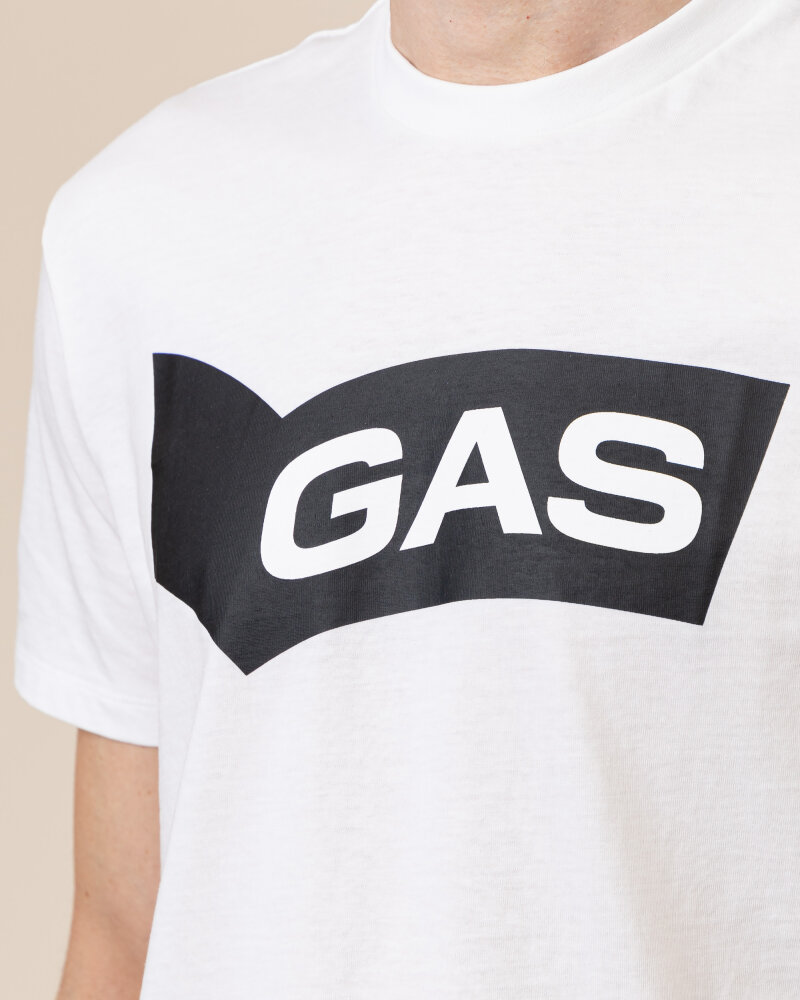 T-Shirt Gas A1118_DHARIS/R GAS BN     _0001 biały - fot:3