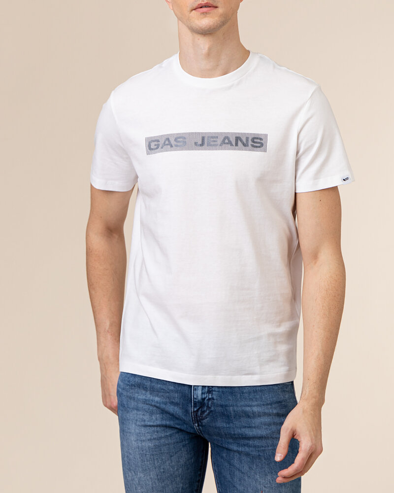 T-Shirt Gas A1105_SCUBA/S LINE        _0001 biały - fot:2