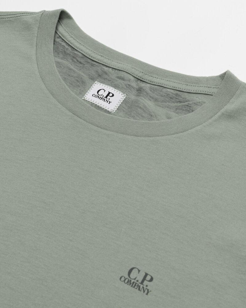 T-Shirt C.p. Company 10CMTS037A005100W_631 zielony - fot:2