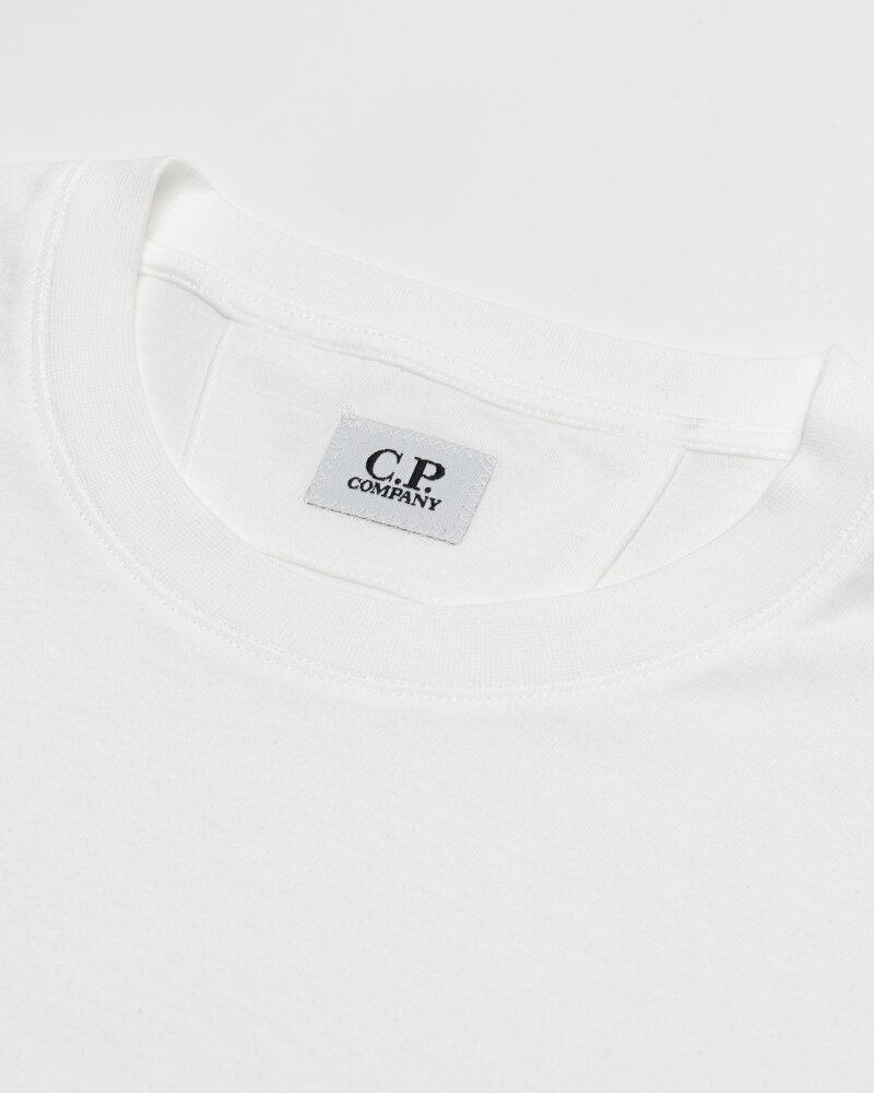 T-Shirt C.p. Company 10CMTS213A006011W_103 biały - fot:2