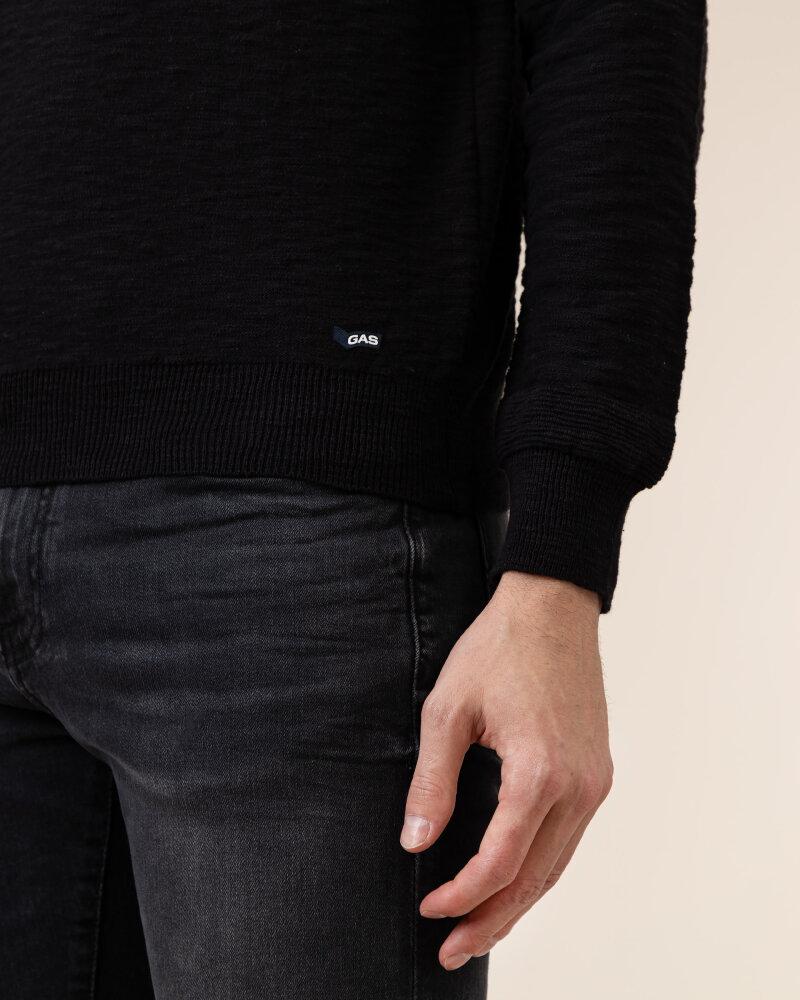 Sweter Gas A1304_MILLO/R             _0200 czarny - fot:3
