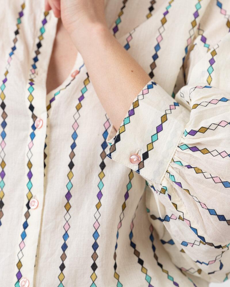 Koszula Lollys Laundry 21176_2054_MULTI kremowy - fot:3