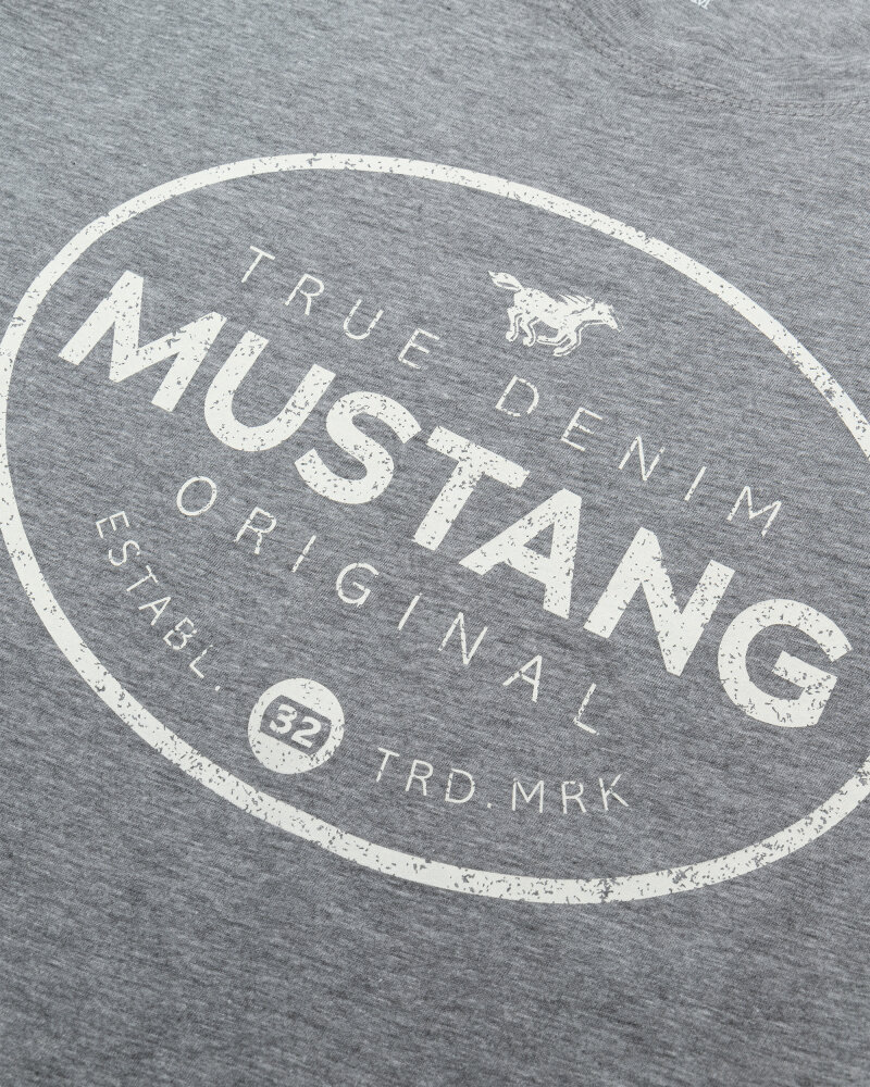 T-Shirt Mustang 1010676_4140 Szary Mustang 1010676_4140 szary - fot:3