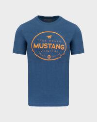 T-Shirt Mustang 1010676_5229 niebieski- fot-0