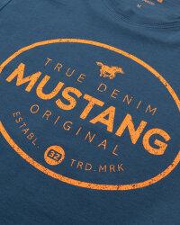 T-Shirt Mustang 1010676_5229 niebieski- fot-2