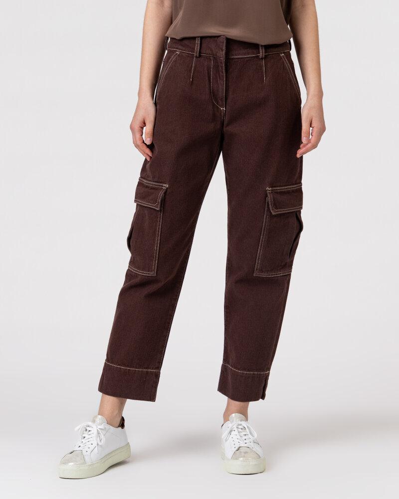 Spodnie Trussardi  56P00252_1T004845_B285 brązowy - fot:2