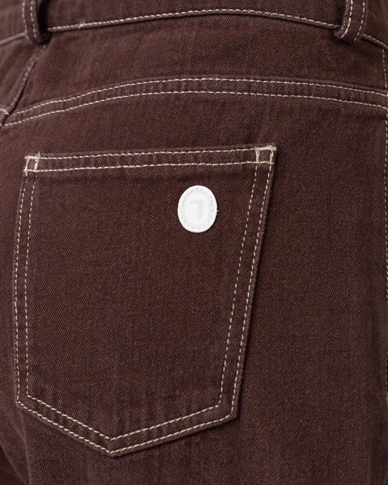Spodnie Trussardi  56P00252_1T004845_B285 brązowy - fot:4