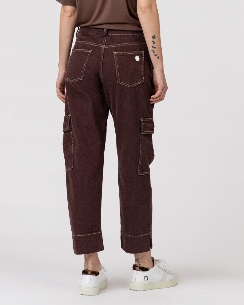 Spodnie Trussardi  56P00252_1T004845_B285 brązowy - fot:5